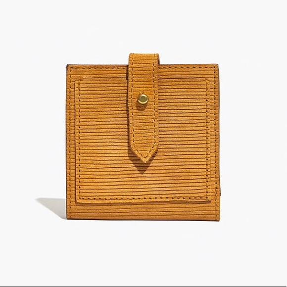 Madewell Handbags - Madewell the post billfold wallet in corduroy sued